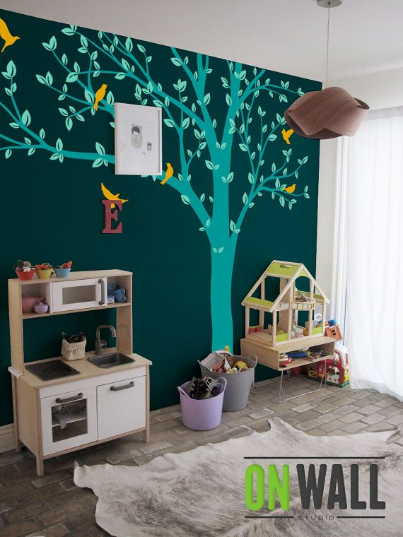 Tree Wall Decals Baby Room Decal Vinyl Wall Decal by ONWALLstudio, $96.00