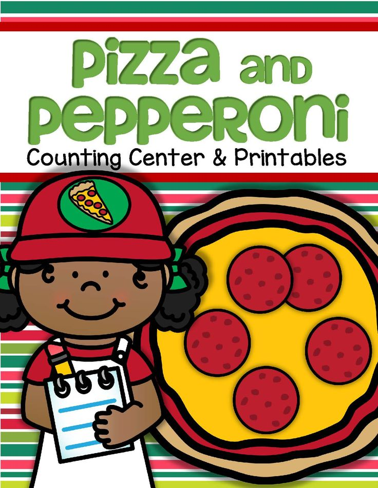 This is a hands-on center, plus supporting printables to make for preschool, pre-K and early Kindergarten. It would work well with a community helper, food or pizza theme.  Included: 11 numbered pizzas, 0-10; number names for each number, written on pizza box cards; 1 unnumbered pizza and box; page of pepperoni slices; page of numbers, 0-10, and a plus, minus and equals sign; 2 cut and paste printables; an emergent reader where groups of pepperoni slices can be drawn on pizzas