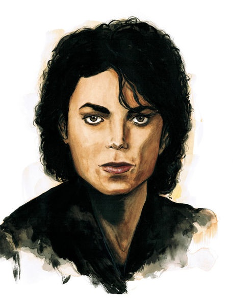 'Michael Jackson' by Stephane Lauzon on artflakes.com as poster or art print $16.63