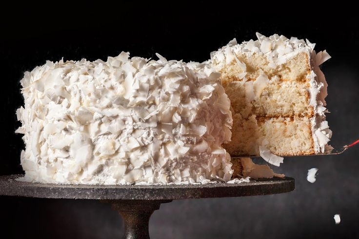A rich, tender Christmas coconut cake recipe.