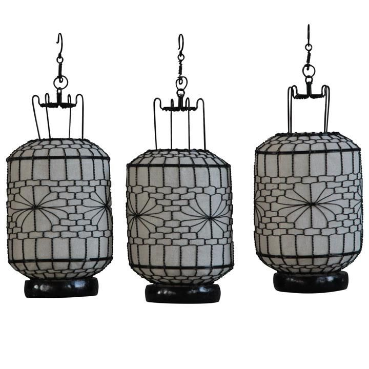 Wire Canvas Lantern White Cylindrical Lanterns Candlelight