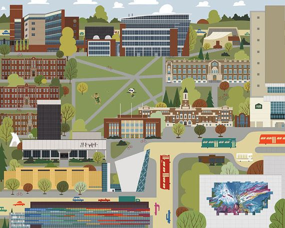 Edmonton  University of Alberta by JasonBlower on Etsy