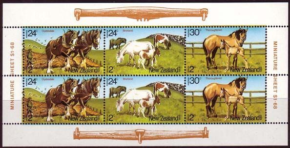 New Zealand Health 1984 Horses Miniature Sheet SG MS 1348 Scott, b120a Fine Mint Other Health Stamps HERE