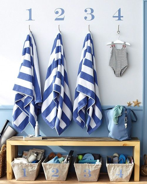Beach towel and boating items storage