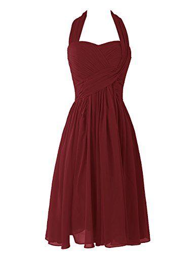 Dresstells, A-ligne robe mousseline de demoiselle d'honneur robe de soirée de cocktail longueur au genou, Bordeaux Taille34 Dresstells http://www.amazon.fr/dp/B00ZU2JT9G/ref=cm_sw_r_pi_dp_nY4-wb140YXYP