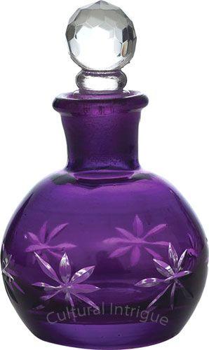 Purple Perfume Bottle (Nikita design). $12.95 (Min 12).