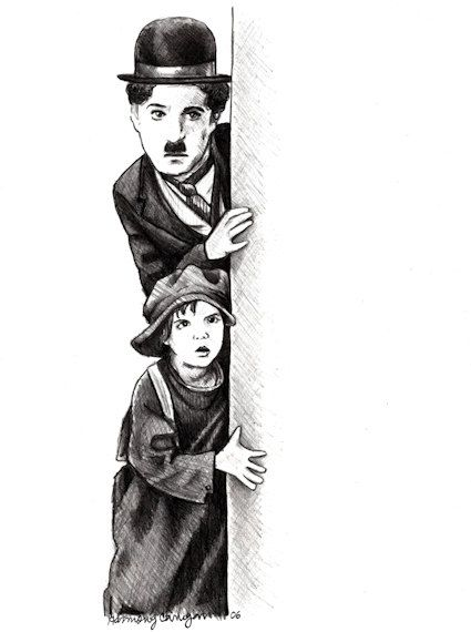 Charlie Chaplin and Jackie Coogan  THE KID  by BaudelaireAntiques, $20.00