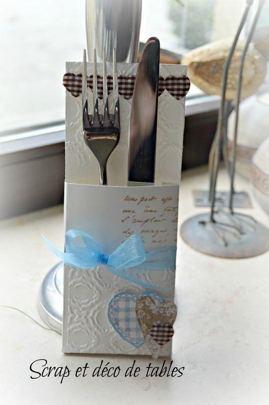 Pochette couverts porte couvert pinterest - Couvert de table design ...