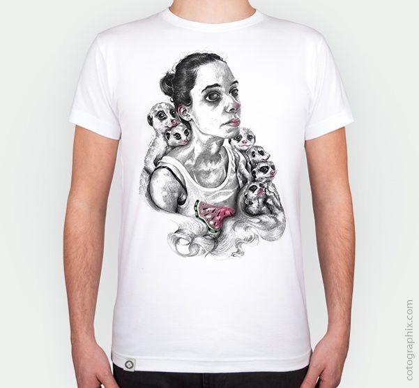SuriMarta design on Cotographix. http://cotographix.com/es/tienda/hombre/camiseta/vanesaizquierdo/blanco/surimarta/