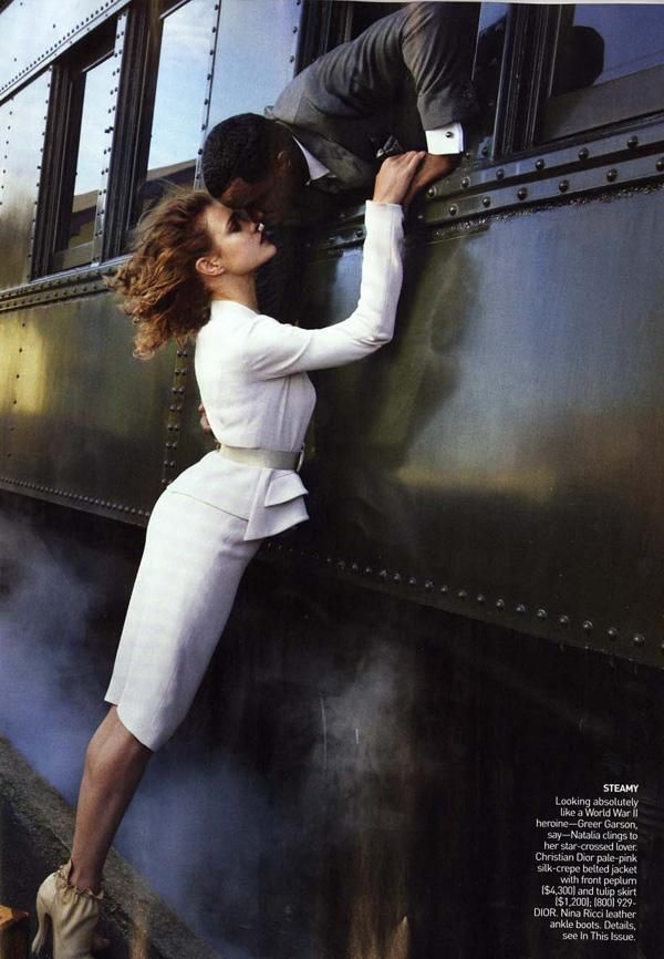 Brief Encounter (American Vogue)  Annie Leibovitz - Photographer  Grace Coddington - Fashion Editor/Stylist  Julien d'Ys - Hair Stylist  Gucci Westman - Makeup Artist  Mary Howard - Set Designer