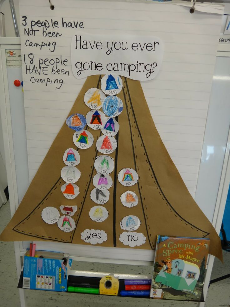 Camping Themed Classroom Decorations ~ Have you ever been camping graph from first grade garden