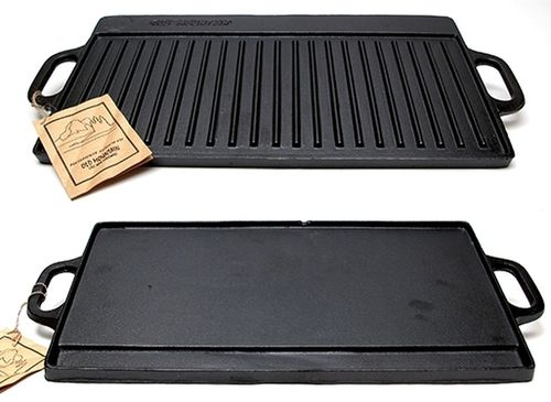 Old Mountain Cast Iron Preseasoned Two-Burner Reversible Grill Griddle