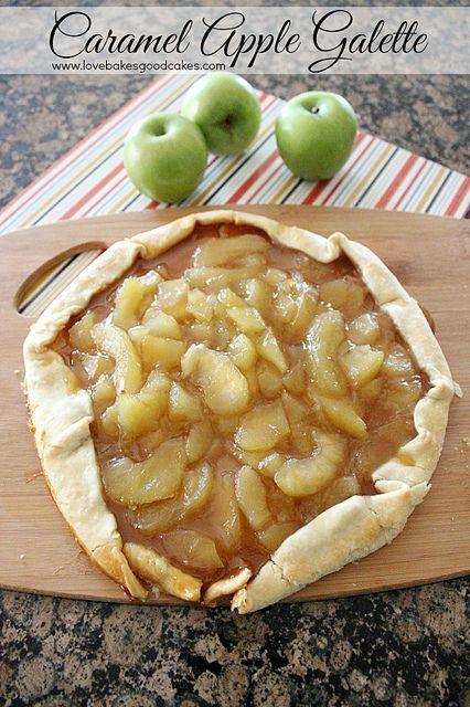 Caramel Apple Galette by lovebakesgoodcakes, via Flickr.