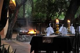 Dining at the boma listening to the call of the wild
