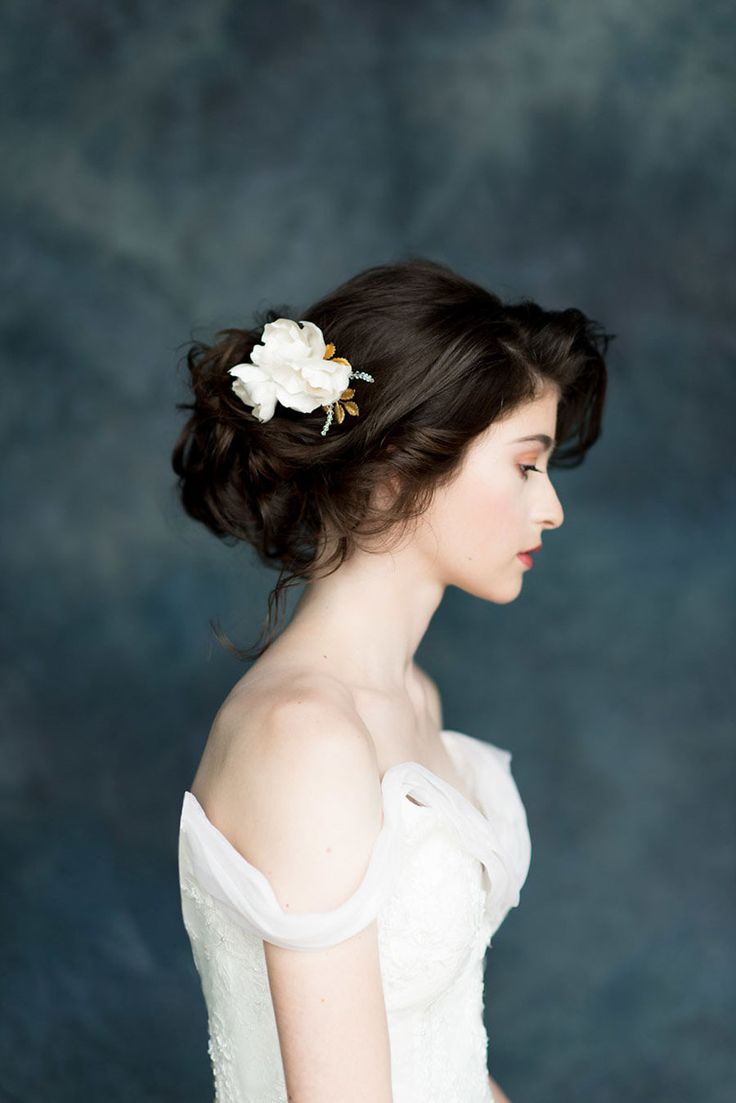 meadow silk tulle embroidered lace mantilla veil by blair nadeau