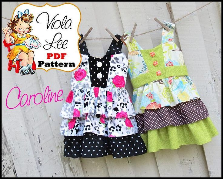 Caroline... Girl's ... by Viola Lee | Sewing Pattern - Looking for your next project? You're going to love Caroline... Girl's Dress Pattern by designer Viola Lee. - via @Craftsy