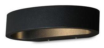 Ovali vegglampe LED - Sort