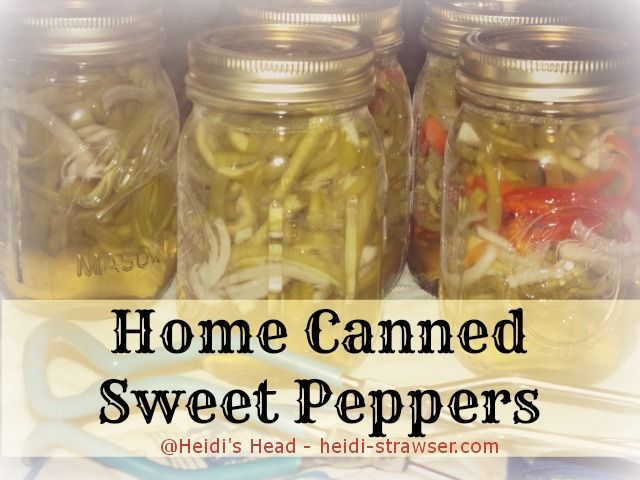 Home Canned Sweet Peppers