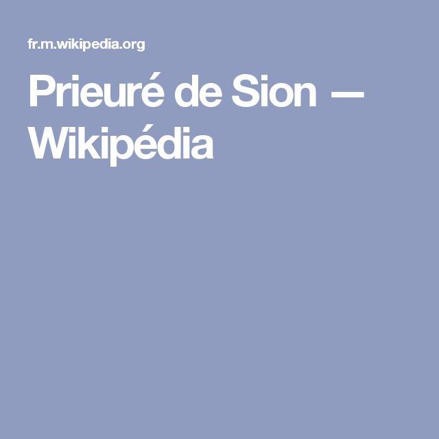 Prieuré de Sion — Wikipédia