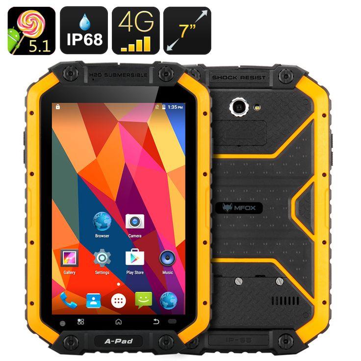 MFOX JPad Rugged Tablet - IP68, 7 Inch 1280x800 Screen, Android 5.1, Dual SIM, Bluetooth 4.0
