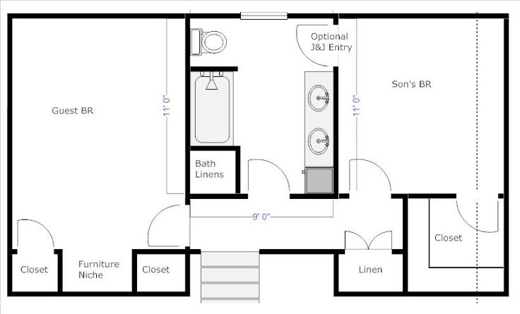 Bathroom Floor Plans With Dimensions Re Jack And Jill Bathroom Jack Jill Bathroom Ideas