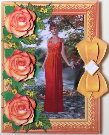 Rose Decoupage 11 by Taina Kankare: I opened the Rose Decoupage 11 main file into my photo editor, and added a matching color frame. Then I…