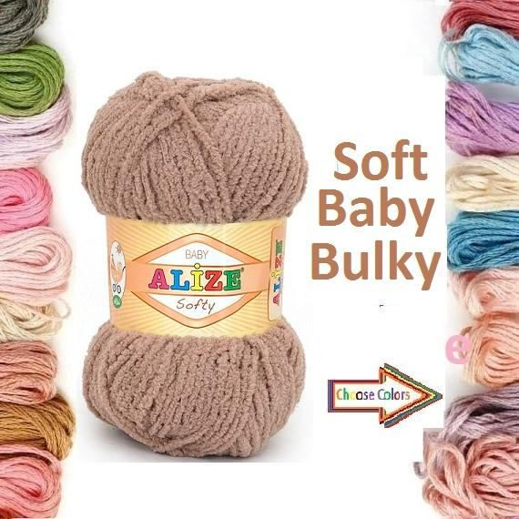 Check out this item in my Etsy shop https://www.etsy.com/listing/522879912/alize-softy-knitted-yarn-baby-yarn-alize