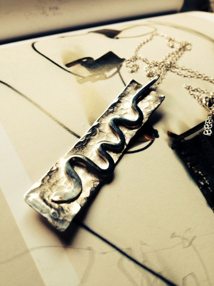 Rustic silver pendent