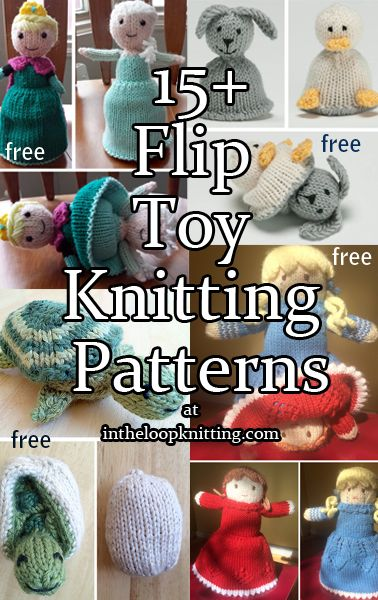 Knitting Patterns for topsy turvy, reversible, 2-in-1, or flip toys