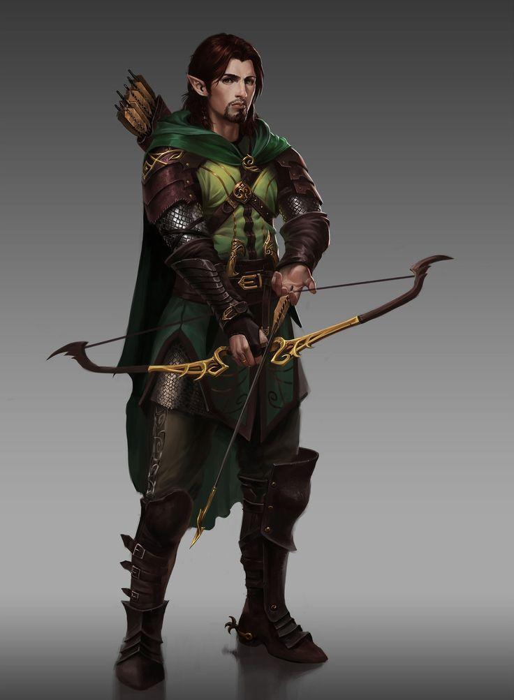 Half Elf Ranger Dunda -Bow/Arrows (1 d6) -Sword (2 d6)