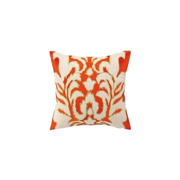 Ikat Embroidered Pillow - The Inglenook Decor ($110) via Polyvore