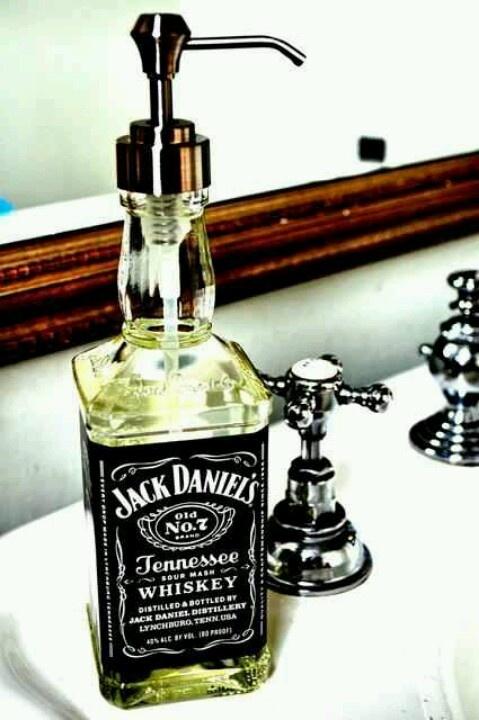 Repurpose old liqour bottles