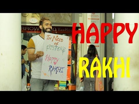 """These guys stood on a busy street with a placard in their hands that says- """"In need of Sisters, Happy Rakhi"""", you would love to see how the girls reacted and tied them #Rakhi one after another. They even got chocolates from their Rakhi Brother. #rakshabandhan #festival"""