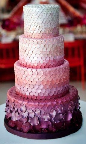 sea scales inspired wedding cake