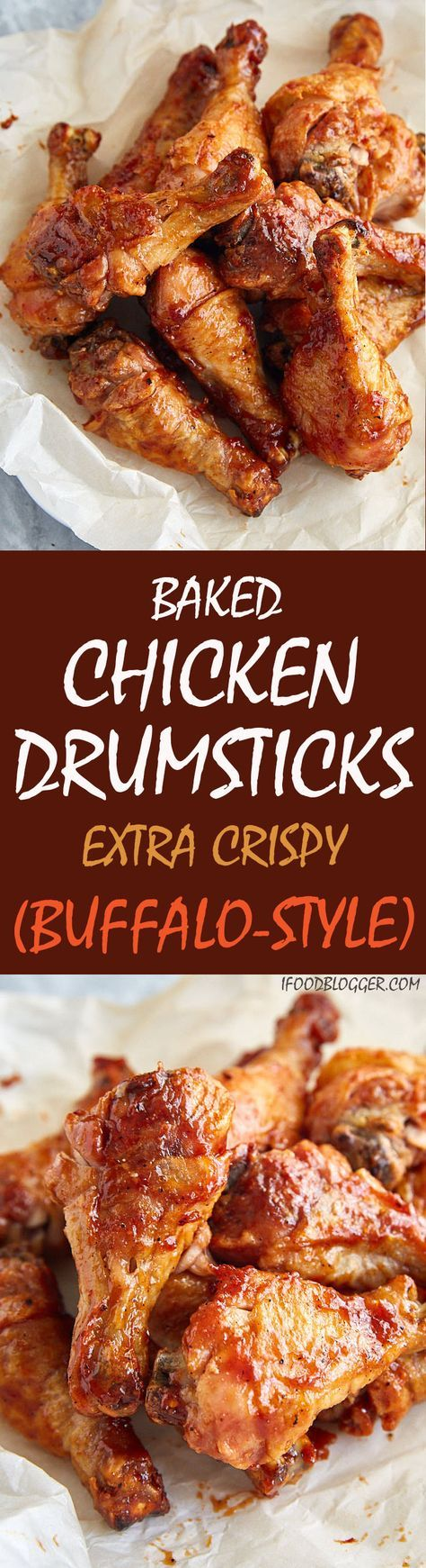 These Buffalostyle extra crispy baked chicken drumsticks