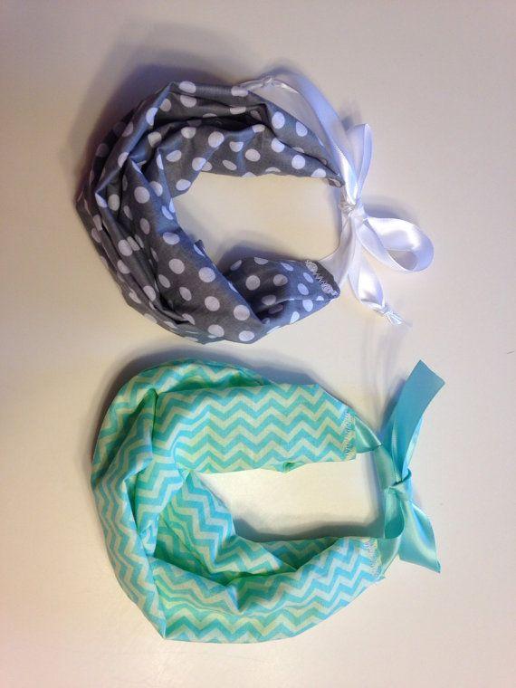 Handmade infinity scarf bib for babies by AshleySewsGreat on Etsy