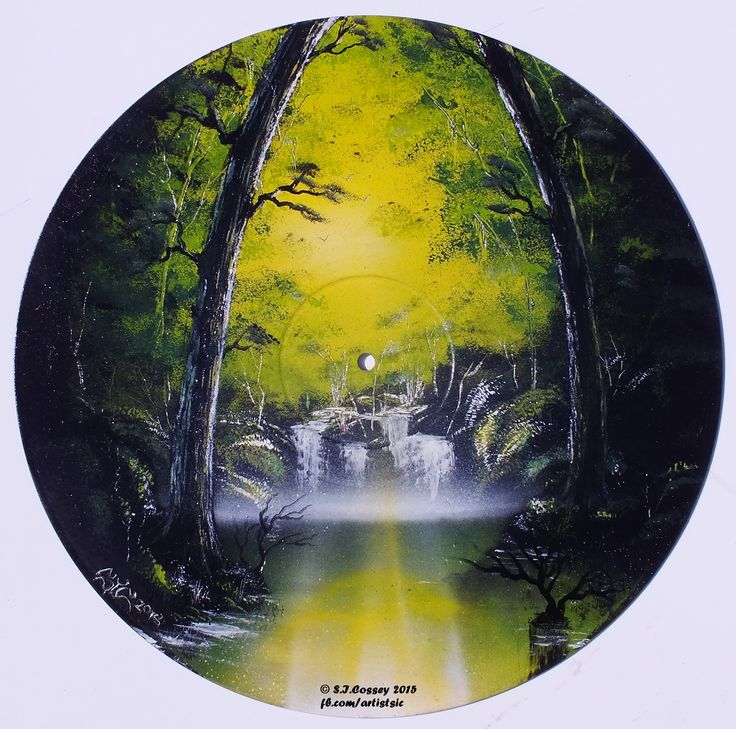 """Green Serene"" Spray can art work (on 12"" vinyl, once polyphonic)."