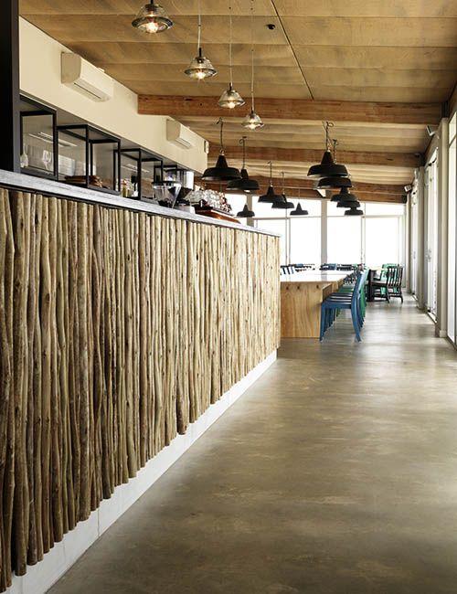 BIB' N TUCKER | alwill  #interiors #wood #restaurant #cafe #pendant #light