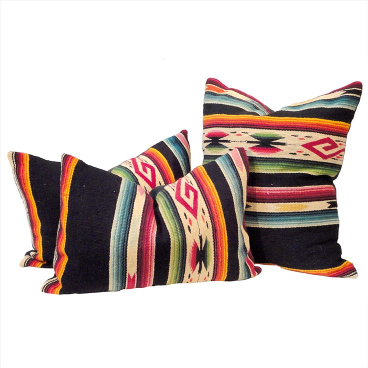 Hand Woven Mexican Indian Sarape Pillows
