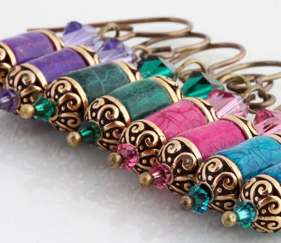 paper beads; end caps