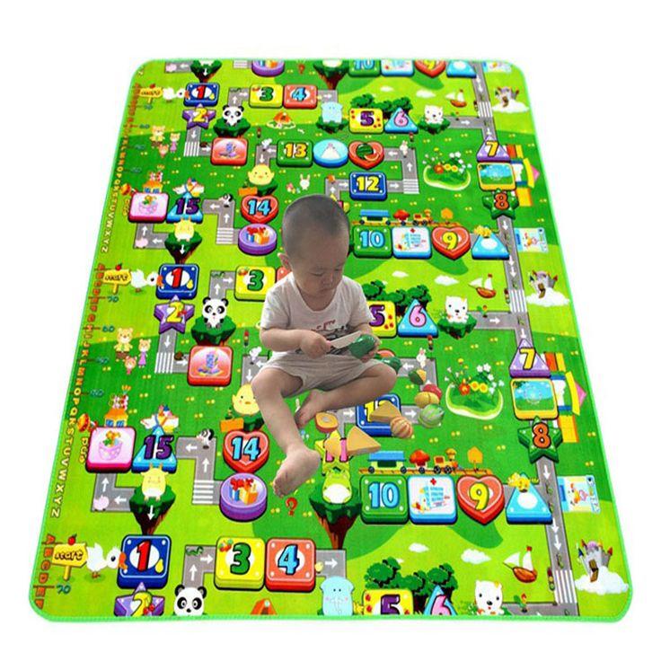 Verkauf Wasserdichte Kinder Spielmatte Strand Picknick mas babyspielmatten BabyCrawling Matte kinder Teppich Teppich Decke Spielzeug reiche geschenk