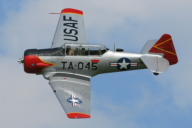 North American T-6 Texan.  My dad had one of these.