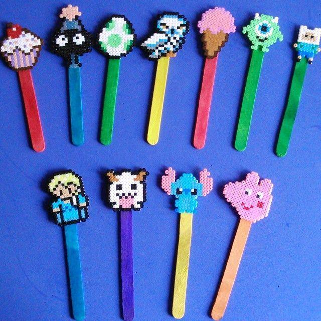 Bookmarks hama mini beads by Freak HamaFelts