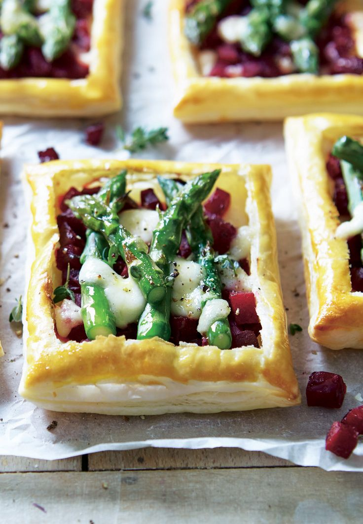 Asparagus & Beetroot Tarts | Asda Good Living