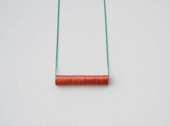 Cinnamon stick necklace minimal necklace by elfinadesign on Etsy