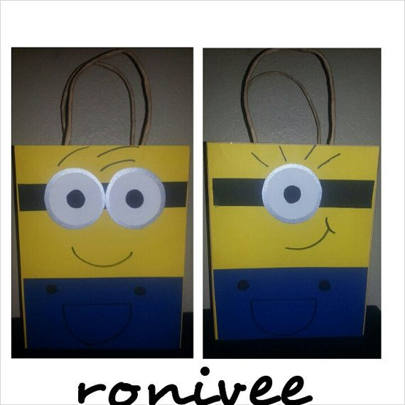 Minion Party Bags by RoniVeesBoutique on Etsy, $25.00