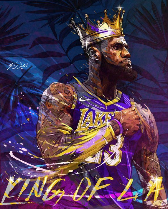 fa5261170a8 For sale is a high quality Lebron James Lakers Crown poster