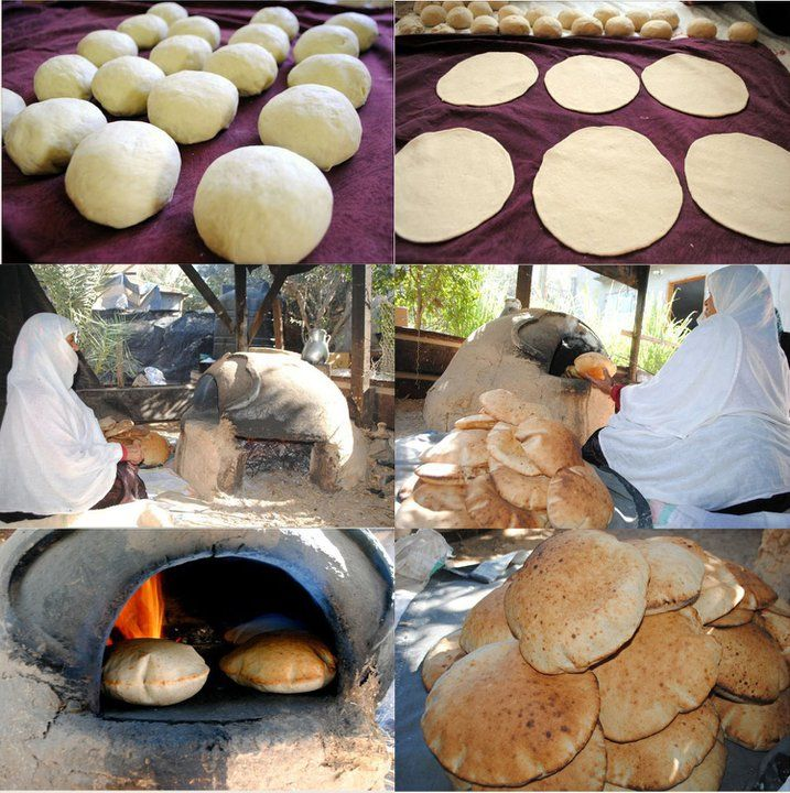 Wood fired oven and traditional Pita Bread