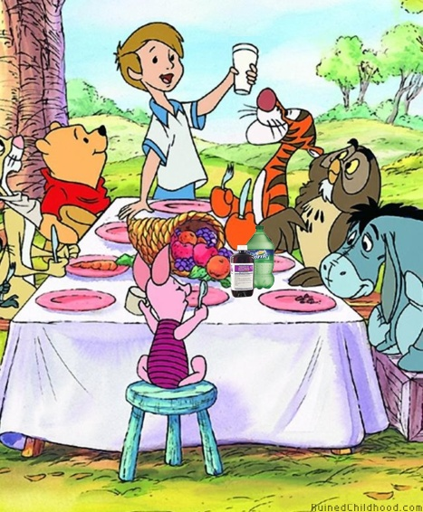 : Acr Wood, Teas Time, Friends, Happy Thanksgiving, Pooh Bears, Winniethepooh, Pooh Thanksgiving, Winnie The Pooh, Christopher Robins