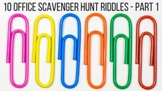 If you're looking for a fun team building activity to use at your job, use these 10 office scavenger hunt riddles specially tailored for the workplace.